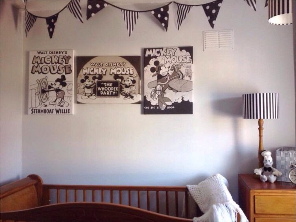 VINTAGE MICKEY MOUSE NURSERY
