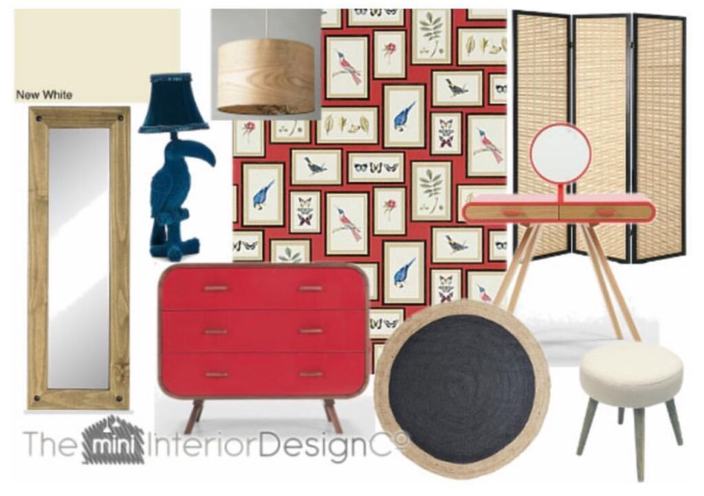 Red Bird Theme Dressing Room Design