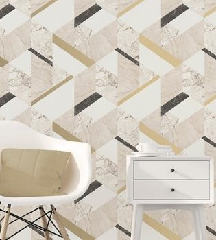 Cream marble effect wallpaper