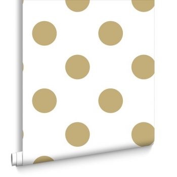 Gold polka dot wallpaper