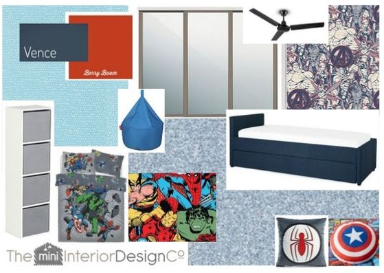 Superhero Bedroom Design Board