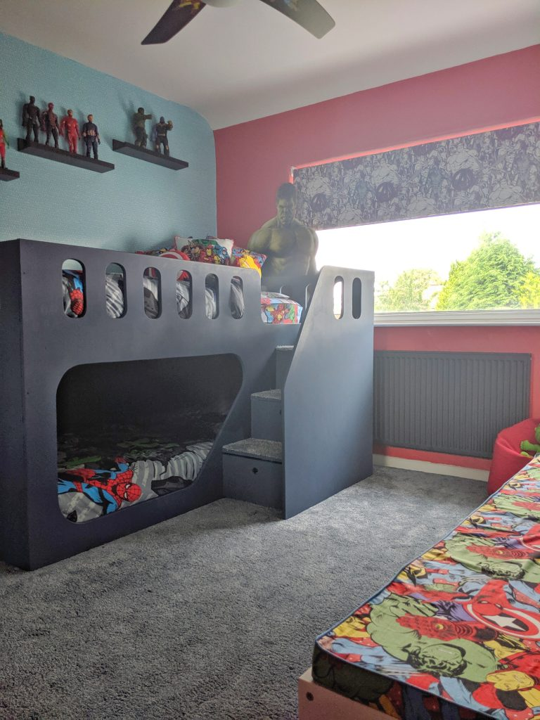 Marvel Avengers Superhero Kids Bedroom | The Mini Interior ...