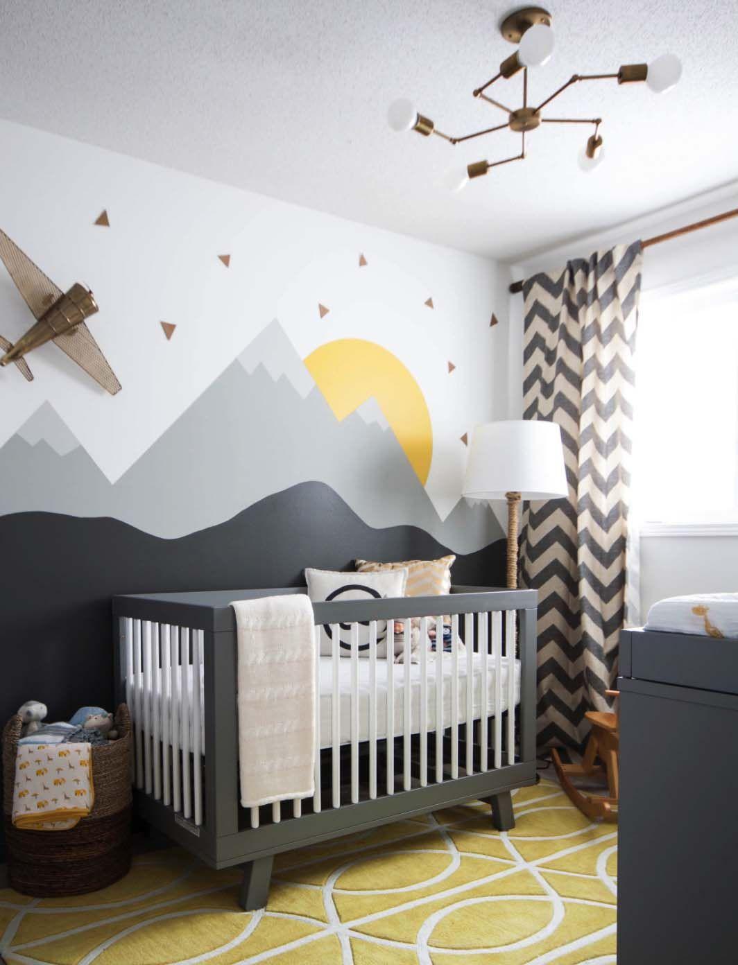 Mountain Scene Baby Room